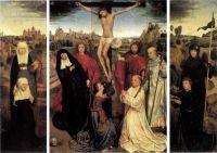 Триптих аббата Яна Краббе (1467-1470) (открыт) (центр - Виченца, музей Чивико, створки внутри - Нью-Йорк, библиотека Пирпонт Моргана)