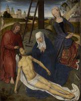Триптих Адриана Рейна (открыт) (1480)_Центральная панель. Пьета (54 x 46)