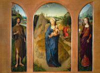 Триптих 'Бегство на пути в Египет' (ок.1475-1480) (центральная панель - 47 x 26) (Париж, Лувр)