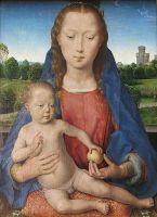 Триптих Бенедетто Портинари (1487)_центральная панель. Мадонна с младенцем (41.5 х 31.5) (Берлин, Гос.музей)