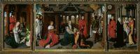 Триптих Богоматери - Рождество, Поклонение волхвов и Принесение во храм (ок.1479-1480) (95 x 271) (Мадрид, Прадо)_