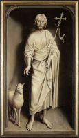 Триптих Виллема Морела (закрыт) (1484) (левая панель - Св.Иоанн Креститель (141 х 87) (Брюгге, Гос.музей)