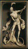 Триптих Виллема Морела (закрыт) (1484) (правая панель - Св.Георгий (141 х 87) (Брюгге, Гос.музей)