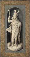 Триптих Донне (закрыт)_Левая панель. Св.Христофор (Лондон, Нац. галерея)