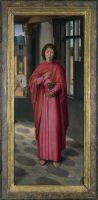Триптих Донне (открыт)-Правая пенель. Св.Иоанн Евангелист (Лондон, Нац.галерея)