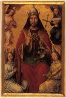 Триптих 'Земное тщеславие и Божественное спасение' (оборотная сторона, центральная панель). Иисус Христос на небесах