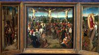 Триптих Распятие (ок.1490) (3641x2025) (Будапешт, Музей изобразительных искусств)