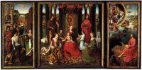 Триптих св.Иоанна Крестителя и св.Иоанна Богослова (1474-1479) (открыт) (центр - 173 х 173, створки - 176 х 79) (Брюге, Музей Мемлинга)