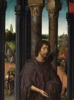 Триптих св.Иоанна Крестителя и св.Иоанна Богослова (1474-1479) (открыт). Центральная панель_Деталь 1. Св.Иоанн Креститель