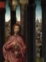 Триптих св.Иоанна Крестителя и св.Иоанна Богослова (1474-1479) (открыт). Центральная панель_Деталь 2. Св.Иоанн Богослов