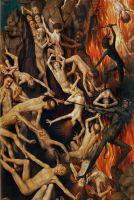 Триптих Страшный суд (1467-1470)-правая панель_Деталь. Средняя часть панели