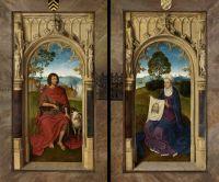 Триптих Яна Флорейнса (закрыт) (1479) (48 х 25) (Брюгге, Гос.музей). Св.Иоанн Креститель + св.Вероника