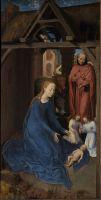 Триптих Яна Флорейнса (открыт)_левая панель. Рождество Христово (48 х 25)