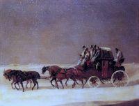 Дерби и Лондонская королевская почта на дороге зимой