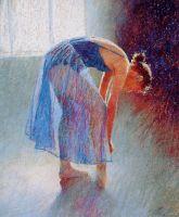 Танцовщица в синем