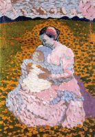 Мать и дитя на лугу