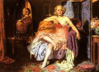Девушка в будуаре