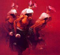 Танцоры, изображающие оленей