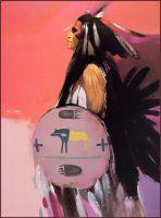 Танцор, изображающий ворону