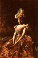 Портерт дамы в розовом платье