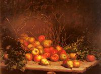 Перевернутая корзина с фруктами и овощами