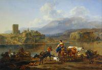 Пейзаж с пастухами и стадом. 1650-75. Лувр