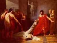 Эгисф, уверенный в том, что обнаружил тело мертвого Ореста