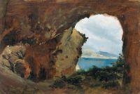 Вид на море и горы из пещеры