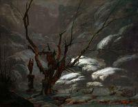 Горный каньон зимой
