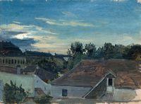Крыши домов вечером
