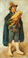 Пиффераро с волынкой в шляпе