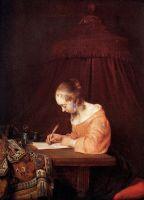 Женщина, пишущая письмо