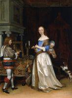 Дама и ее туалет, ок. 1660, маслом на холсте