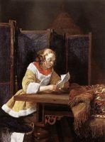 Дама, читающая письмо