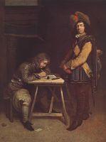 Командир, пишущий письмо