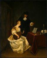 Урок музыки, ок. 1670