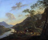Итальянский пейзаж с паромом. 1640-52. 76х91. Гос музей Амстердам