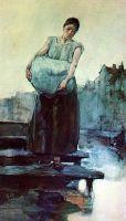 Стирающая белье женщина
