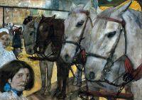 Трамвайные лошади на площади Дам