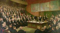 Пятничный вечерний дискурс в Королевском институте; Сэр Джеймс Дьюар с жидким водородом, 1904