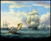 Юриалюс (капитан Блэквуд) и Аджакс покидают Плимут на пути в Кадис