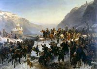 Форсирование Рейна в Каубе армией Блюхера 1 января 1814 года