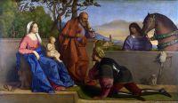 Винченцо Катена - Воин, поклоняющийся младенцу Христу и Деве Марии [A Warrior adoring the Infant Christ and the Virgin]