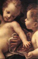 Мадонна с младенцем и ангел (фрагмент)