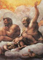 Апостолы Пётр и Павел (фрагмент фрески купола)