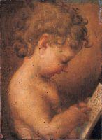 Маленький Путти молящийся или Читающий Мальчик