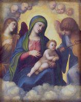 Мадонна с младенцем и младенец в Славе