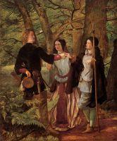 Фиктивный брак Орландо и Розалинды, сцена из «Как вам это понравится» Уильяма Шекспира