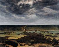Берег моря в лунном свете