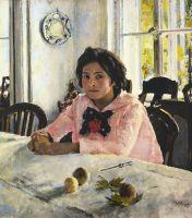«Девочка с персиками», Валентин Серов